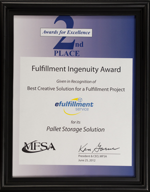 Order Fulfillment Ingenuity Award