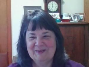 Jennifer Robinson shown smiling on her virtual celebration.